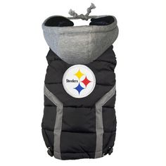 valentine's day steeler style   Pittsburgh Steelers Dog Puffer Vest