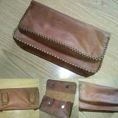 Bolsillo de cuero para el cinturón, hecho a mano. #bolsillo #cuero #artesania #hechoamano #artesanal