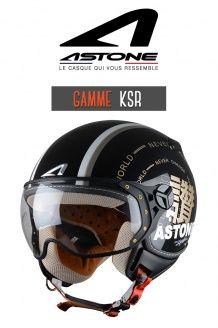 Casque Jet Ksr graphic exclusive world black Astone Helmets