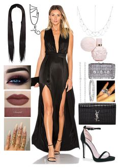Engaged Wine Party by allison-syko on Polyvore featuring polyvore fashion style Lovers + Friends Boohoo Yves Saint Laurent Blue Nile Anita Ko Floss Gloss clothing