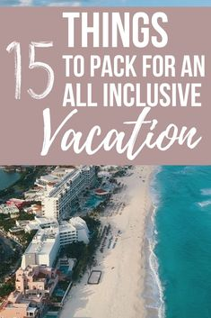Whether you're traveling to Mexico, Cuba or Punta Cana, there are some vacation essentials you should definitely bring with you. This all inclusive resort packing list has 15 items you should bring an All Inclusive Mexico, All Inclusive Urlaub, All Inclusive Vacations, Mexico Resorts, Beach Vacations, Cancun Mexico, Dream Vacations, Cuba Resorts, Punta Cana Vacations