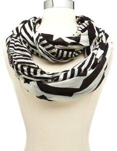 geo stripe infinity scarf