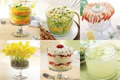From flowers and fruit salads, to appetizers and amazing desserts... our Trifle Bowl can handle it all!