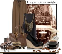 """""""Black Coffee"""" by jenniemitchell ❤ liked on Polyvore"""