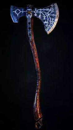 Kratos God Of War, Kratos Axe, Thor, Armas Ninja, Battle Axe, Medieval Weapons, Weapon Concept Art, Norse Mythology, Ragnar