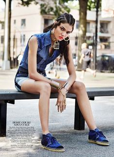 Urban Denim Editorials - The Marie Claire US 'Jean Streets' Photoshoot Stars Daniela Braga (GALLERY)