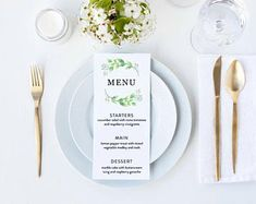 Wedding Menu, Starters, Wedding Stationery, Tableware, Creative, Shop, Etsy, Dinnerware, Wedding Dinner Menu