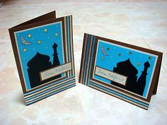 Lin Handmade Greetings Card: Mosque vertical and horizontal