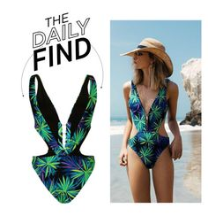 """The Daily Find: Kendall + Kylie Topshop Swimsuit"" by polyvore-editorial ❤ liked on Polyvore featuring Topshop and DailyFind"