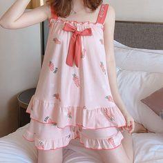 Kawaii Fashion, Cute Fashion, Look Fashion, Girl Fashion, Fashion Women, Cute Sleepwear, Sleepwear Sets, Sleepwear Women, Sexy Pajamas