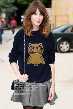 owl long-sleeved sweatshirt