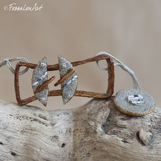 Necklace. Hemp twine, sand and seashells' chips.   Handamade by FossalonArt