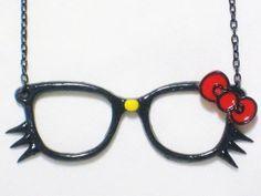 Nerd hello kitty glasses