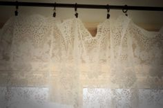 Vintage Lace Curtain by gardenofsimples on Etsy, $69.95
