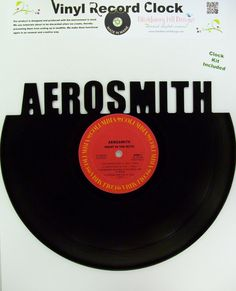 Recycled Vinyl Record  Aerosmith Wall Art, $29.99