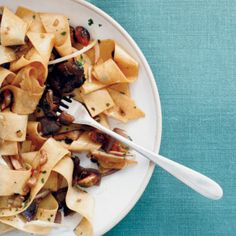 """Pappardelle with porcini mushrooms is Shea Gallante's favorite pasta: """"It's great in its simplicity,"""" he says. What makes this version extraordinary a..."""