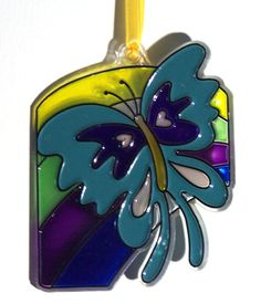 ORNAMENT  Butterfly & Rainbow  Acrylic  Blue by CreativeXpression1, $3.50