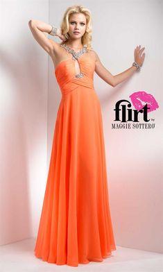 Lindos Vestidos de Fiesta Largos de color Naranja