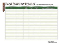 Print This Free Garden Planner: Seed Starting Printable