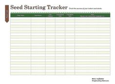 Print This Free Garden Planner: Seed Starting Printable