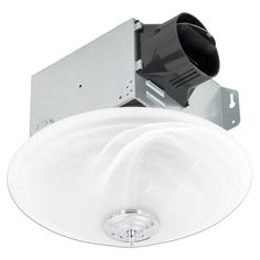Delta Breez GreenBuilder Bathroom Fan ENERGY STAR at Lowe's. Disguised as an elegant light fixture, this beautifully designed ventilation fan with frosted glass globe and dimmable LED light adds the perfect finish Delta Bathroom, Bathroom Fans, White Bathroom, Bathroom Exhaust Fan, Ceiling Installation, Dimmable Led Lights, Light Bulb Types, Energy Star, Glass Globe