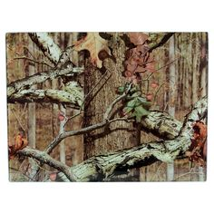 Mossy Oak Break-Up Tempered Glass Cutting Board
