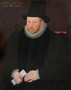 """""""Thomas Fanshawe, Second Remembrancer of the Exchequer"""", Marcus Gheeraerts the younger, ca. 1590"""