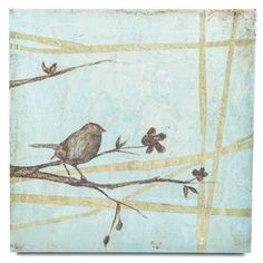 Bird on Branches Canvas Wall Art