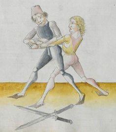 Lecküchner, Hans: Kunst des Messerfechtens Nordbayern, 1482 Cgm 582 Folio 182