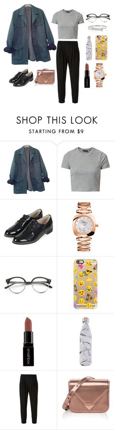 """New England"" by littlemissprincesslove ❤ liked on Polyvore featuring HUGO, New Look, Topshop, Glashütte, Concord, Casetify, Smashbox, S'well, Helmut Lang and Alexander Wang"
