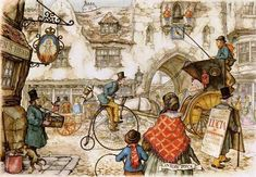 downtown by Anton Pieck