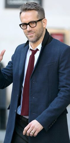 Ryan Reynolds Leaviong BBC Radio Studios in London