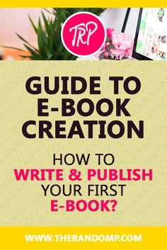 How to write & publish your first e-book? therandomp.com/blog/e-book-writing-experience-tips