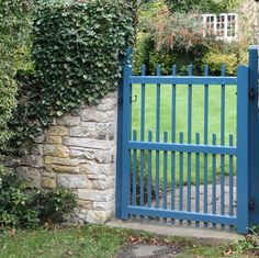 IMG_8017 Blue Gate by Alisonashton1, via Flickr - I like the two tones of blue