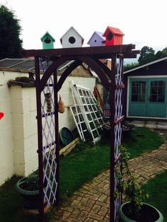 Back Gardens, Arch, Outdoor Structures, Longbow, Wedding Arches, Bow, Arches, Belt