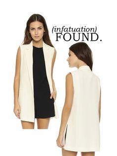 Club Monaco Rina Vest #shopbop | the traditional blazer's chic older sister