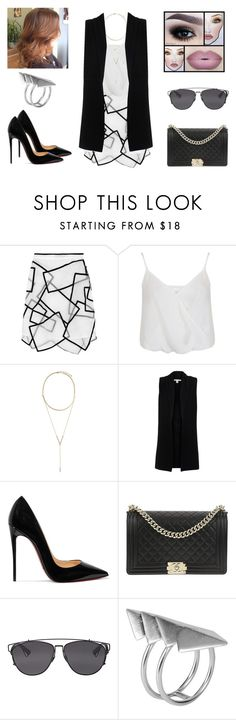 """""""Sem título #1175"""" by gabriel-sampaiooo on Polyvore featuring Christopher Kane, Miss Selfridge, BCBGeneration, Belford, Christian Louboutin, Chanel, Christian Dior e First People First"""