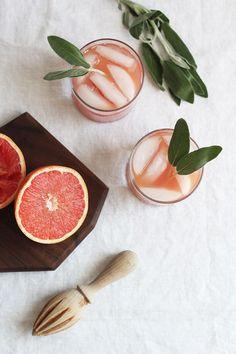 Grapefruit + Sage Champagne Recipe | Little Peanut Magazine