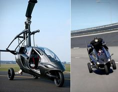 The Helicopter Motorcycle . Contend for the title of owning the ultimate transforming air to ground vehicle with this helicopter motorc. Motorcycle Camping, Camping Gear, Flying Vehicles, Zombie Apocalypse Survival, Terrain Vehicle, Bug Out Vehicle, Flying Car, Transporter, Gadgets