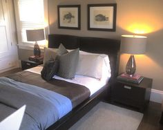 """So why is it that most """"manly-type"""" bedrooms all have either a black or brown color palette? - A manly bedroom in chocolate House by Dave Mathews, via Flickr"""
