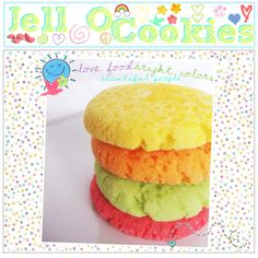 """""""jell-o cookies;; ♥"""" by thebigbookofrecipes ❤ liked on Polyvore"""