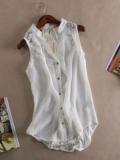 Fashion chiffon sleeveless vest shirt – Tepayi