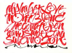 MB brush by Luca Barcellona - Calligraphy  Lettering Arts, via Flickr