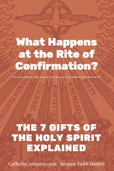 If you've received the Sacrament of Confirmation, you have these seven supernatural gifts of the Holy Spirit. Remember whose you are!