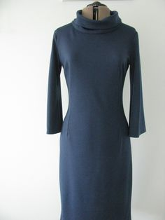 This was made from a free pattern with an early Love Sewing Magazine - the Bella Dress.  Fabric is a petrol blue ponte roma.  Such a comfy, wearable dress.