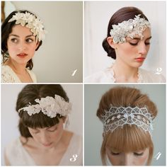 Rose Runs Wild: The Wedding // Bridal Hair Pieces