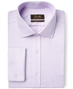 Tasso Elba Non-Iron Purple Houndstooth French Cuff Dress Shirt, Only at Macy's