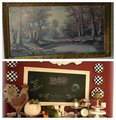 Repurpose Old Art With Chalk Paint