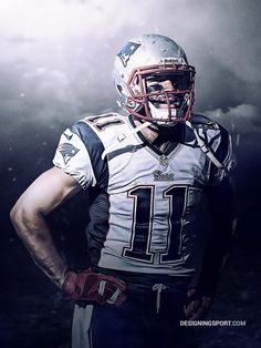 Julian Edelman, New England Patriots - Designing Sport Sports Art, Nfl Sports, Nfl Football, American Football, European Football, Sports Teams, College Football, New England Patriots Football, Patriots Fans