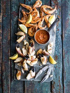 Chargrilled prawns and crab claws with smoky diabolo sauce
